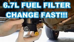 Ford 6 7l Fuel Filter Change Fast    2011