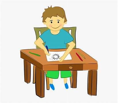 Clipart Activity Preschool Children Boy Drawing Child