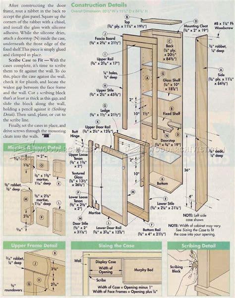 how to build a murphy door murphy bed plans woodarchivist