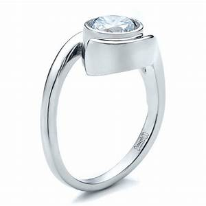 contemporary split shank solitaire engagement ring 1479 With contemporary wedding rings