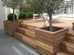 jardinieres en bout de terrasse marches recherche google With exemple de jardin de maison 18 escaliers kaori constructions maison ossature bois