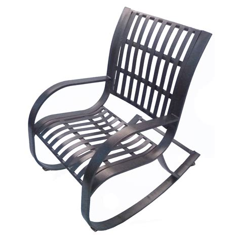 oakland living noble wrought iron patio rocking chair
