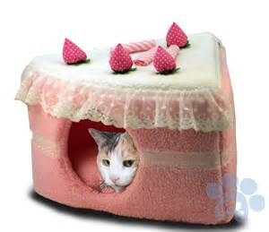 kitty cat supplies kitty cake cat bed cake bed with pad strawberry best