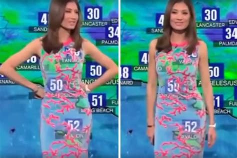 tv weather girl embarrassed    dress wardrobe