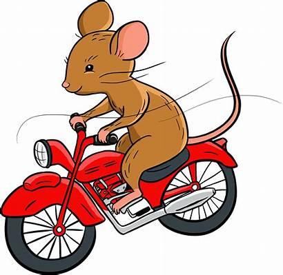 Transparent Motorcycle Cartoon Mouse Riding Clipart Clip