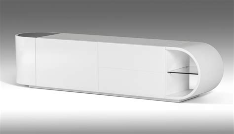 modrest nelly modern white glossy tv stand