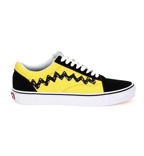 cuisine noir et jaune vans baskets basses skool snoopy homme jaune et noir