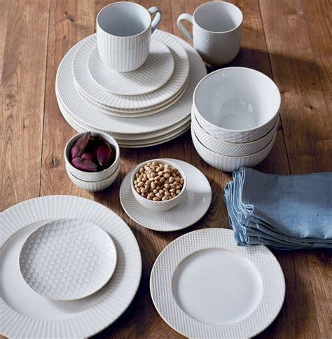 dinnerware textured sets scroll westelm