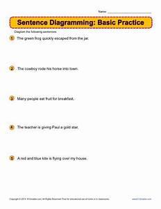 Sentence Diagramming  Basic Practice Worksheets