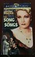THE SONG OF SONGS VHS Video MARLENE Dietrich Collection ...