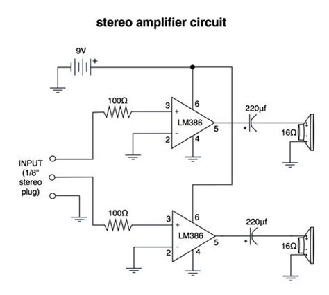 Stereo Amplifier Circuit Diagram Electrical Concepts