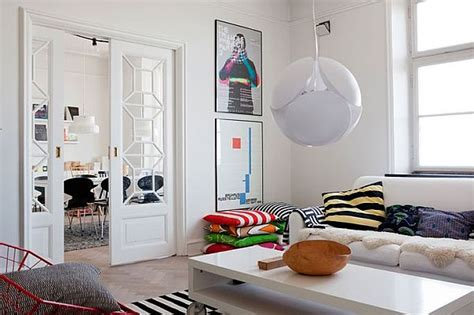 Stylish And Dynamic Swedish Apartment