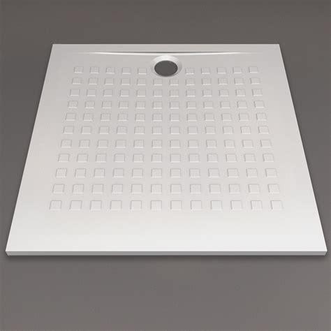 Receveur De Douche Blanc Ultraplat 25cm Resisol 80x80cm