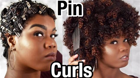 pin curls on natural hair how to curl natural hair