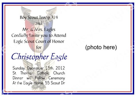 eagle scout court  honor invitation  bluegrasswhimsy