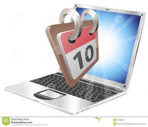 bureau d ordonnancement concept de calendrier de bureau d ordinateur portatif