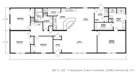 4 Bedroom Floor Plan F1001  Hawks Homes Manufactured