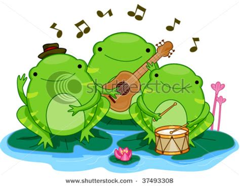 picture  frogs performing     band