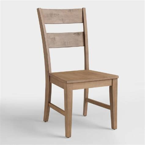 distressed dining chairs distressed wood harrow dining chairs set of 2 world market 3374