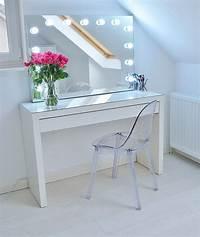make up table New makeup storage: My Ikea Malm makeup vanity   make up ...