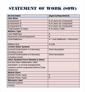 Sample statement of work template 11 free documents for Project management statement of work template