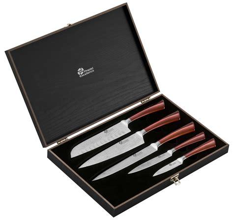 coffret couteau de cuisine coffret 5 couteaux de cuisine pradel effet damas