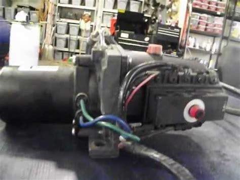 sold volvo penta sx power trim pump  motor