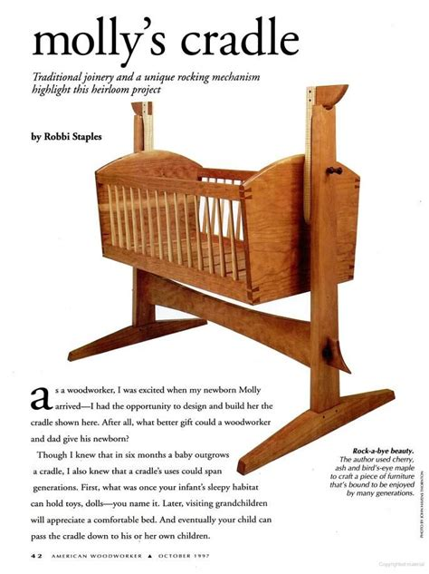 american woodworker google books crib plans cradle