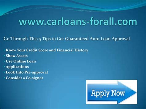 Guaranteed Car Loan Approval For People With Bad Credit