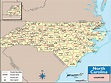North Carolina Counties and County Seats Map by Maps.com ...