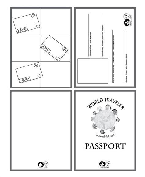 passport template   word  psd illustrator