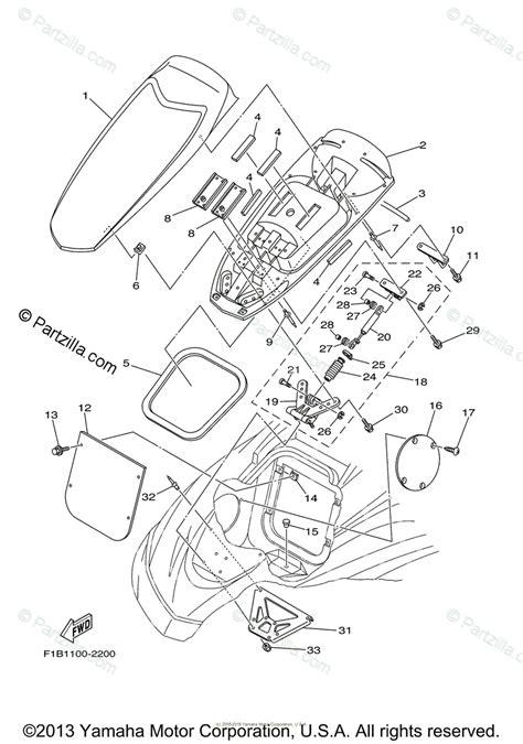 Waverunner Engine Diagram by Yamaha Waverunner 2003 Oem Parts Diagram For Engine Hatch