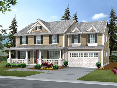 suson oak colonial home plan   house plans