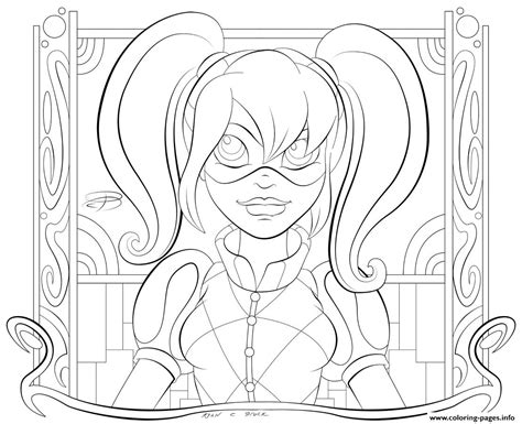 kid hd harley quinn coloring pages printable