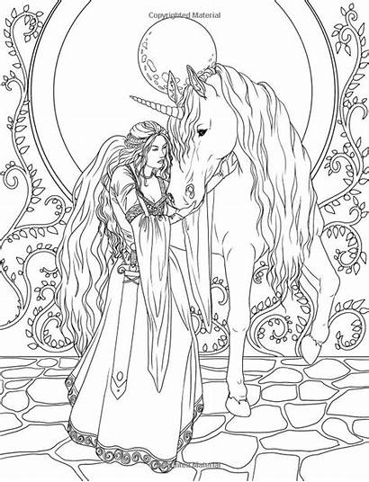 Coloring Magical Pages Creatures Adult Adults Printable