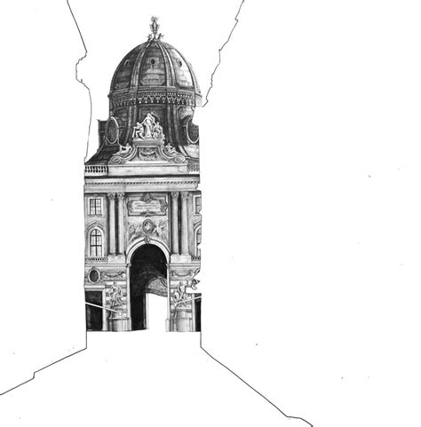 mind blowing sketches  famous uk buildings pencils