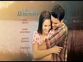 A Walk To Remember DVD Menu - YouTube
