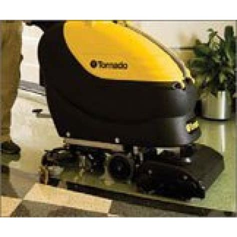 tornado floor scrubber machine tornado 174 22 quot large area tile cylindrical floor scrubber