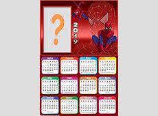 Calendário 2019 do Homem Aranha Montagem para Fotos