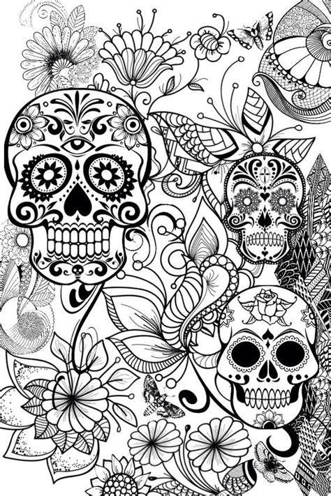 pin  rebecca sanders  coloring pages skull coloring
