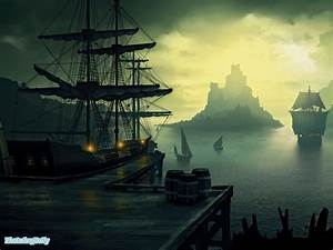 Pirate Ship Wallpaper - http://wallpaperzoo.com/pirate ...