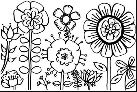 Kleurplaat Flower by Flower Coloring Pages Coloringsuite