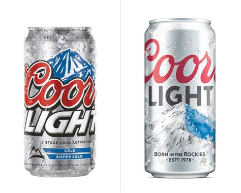 is coors light brand new new logo and packaging for coors light by