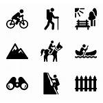Outdoor Active Human Activity Icons Outdoors Clipart