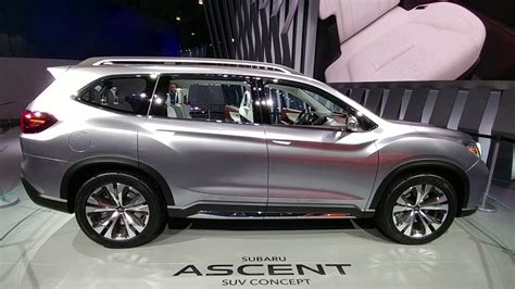 Subaru Ascent Concept Suv Third Row Seating Review