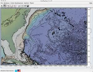 Atlantic Ocean Map Depth Chart