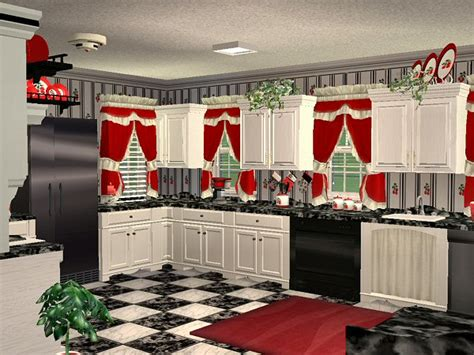 mod  sims mcallis  cherry kitchen