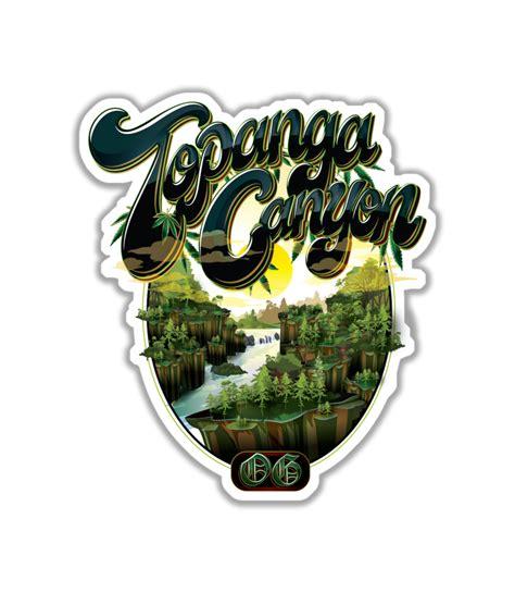 topanga canyon og sticker jungle boys clothing