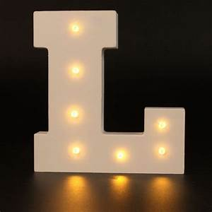 alphabet letter lights led light up white wooden letters With lighted letter a