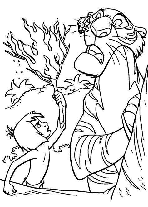 Coloring Jungle by Jungle Book Coloring Pages Coloringsuite